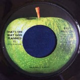 Billy Preston - That's the Way God Planned It 7""