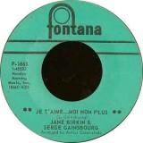 "Jane Birkin & Serge Gainsbourg - Je T´aime...Moi Non Plus 7"""