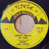 Jerry Lee Lewis - Great Balls Of Fire / Whole Lotta Shakin Goin On 7""