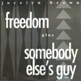 "Jocelyn Brown - Freedom / Somebody Elses Guy 12"""